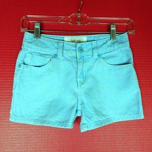 Cherokee Turquoise Denim Jean Shorts Girls M 7 8